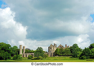 Battle Abbey with stormy sky