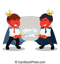 Battle between red business king