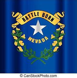 Battle Born Nevada State Flag Motif