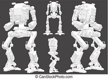 Battle Combat Robot Vector