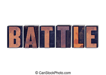 Battle Concept Isolated Letterpress Word