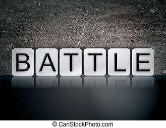 Battle Concept Tiled Word
