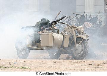 Battle incident - Battle scene at cinema city Cinevilla, in...