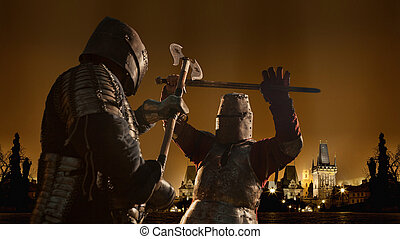 Battle of a Medieval knights