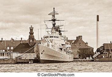 Battle ship in Copenhagen