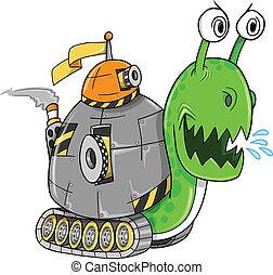 Battle Snail Tank Vector Art Illustration