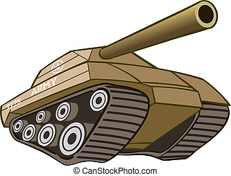 Battle war tank with cannon