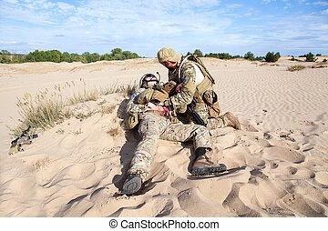Battlefield medicine in the desert