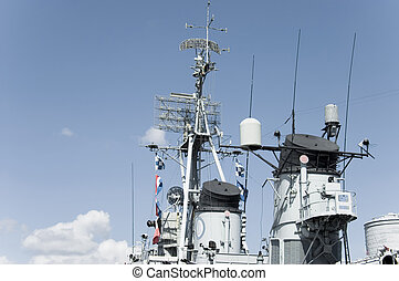 Battleship control tower