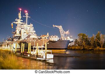Battleship North Carolina at it's home in Wilmington at ...