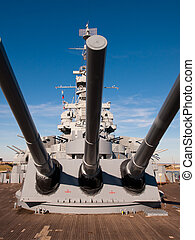 Battleship of US Navy at the museum in Mobile, AL.