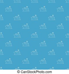 Battleship pattern vector seamless blue repeat for any use