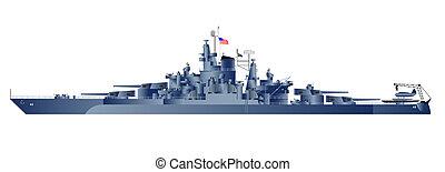 Battleship Uss Tennessee - Military navy ships USS...