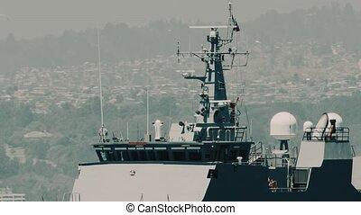 Battleships At The Valparaiso Harbor, Chile