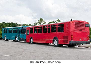 battre duel, autobus