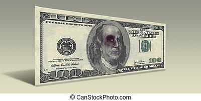 battu, ben, note, dollar, nous, franklin, cent