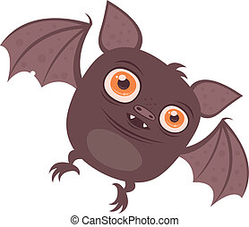 Batty - Vector cartoon illustration of a cute chubby Vampire...