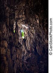 batu, calcare, dentro, caverna, formazioni