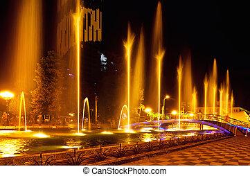 Batumi fountain show - Multimedia laser colorful musical...
