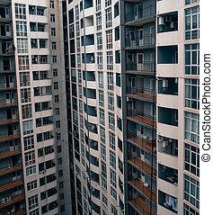batumi., gebouw, flat, georgië, closeup.