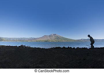 Batur Lake and volcano