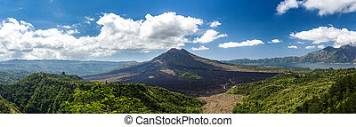 Batur volcano and Agung mountain, Bali - Batur volcano and...