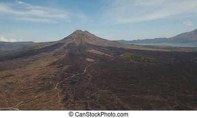 Batur volcano, Bali, indonesia. - Aerial view of Mount Batur...