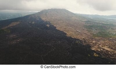 Batur volcano, Bali, indonesia. - Mountain landscape with...