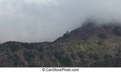Batur volcano, Bali, indonesia. - Volcano, mountain covered...