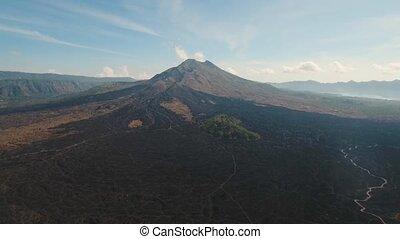 Batur volcano, Bali, indonesia. - Volcano, mountains, sky...