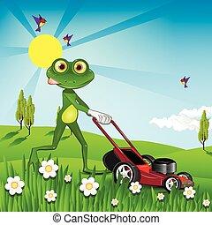 batyst, mows, żaba