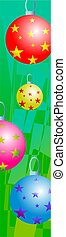 bauble border - Christmas tree baubels