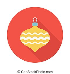 bauble flat icon