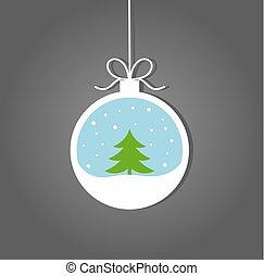bauble, inverno árvore, natal