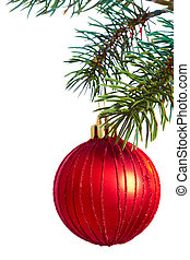 Bauble on a pine