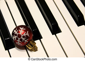 Bauble on Piano Keys