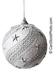 bauble, steegjes, af)knippen, kerstmis, zilver