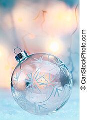 bauble van kerstmis, doorschijnend, delicaat