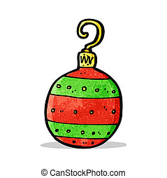 bauble van kerstmis, spotprent