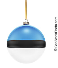 Bauble with the flag design of Estonia.(series)