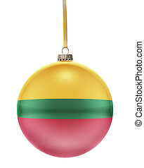 Bauble with the flag design of Lithuania.(series) - A glossy...