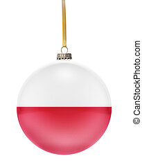Bauble with the flag design of Poland.(series)