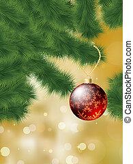 baubles, eps, boom., hangend, 8, kerstmis
