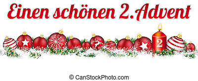 baubles, kop, advent, sneeuw, 2, kaarsje, spandoek, kerstmis
