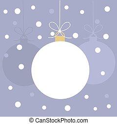 baubles natal, cartão