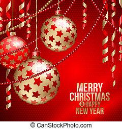 baubles natal, &, decoração