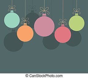 baubles natal, fundo