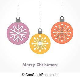 baubles natal, ornamentos