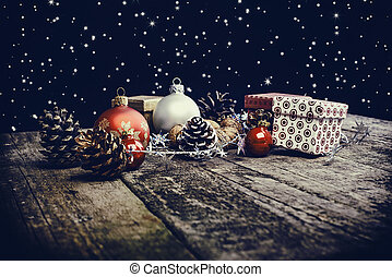Baubles, Pine Cones And Boxes