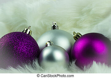 Purple And Silver Christmas Decorations  from cdn.xl.thumbs.canstockphoto.com